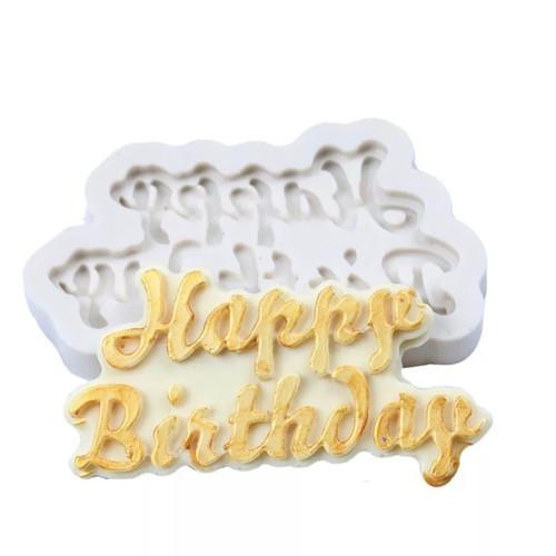 Happy Birthday  Silicone mold PM639
