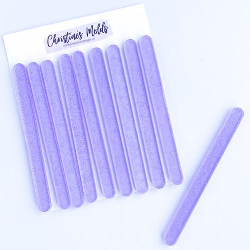Purple Clear white Sparkle Acrylic Cakesicle Sticks