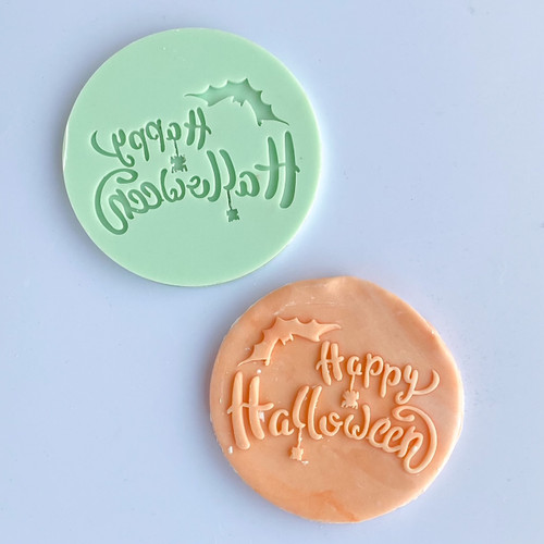 """Happy Halloween with bat   Debosser  3"""" DB181"""