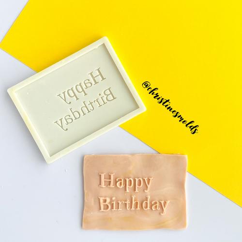 Happy Birthday Plaque Silicone  Mold