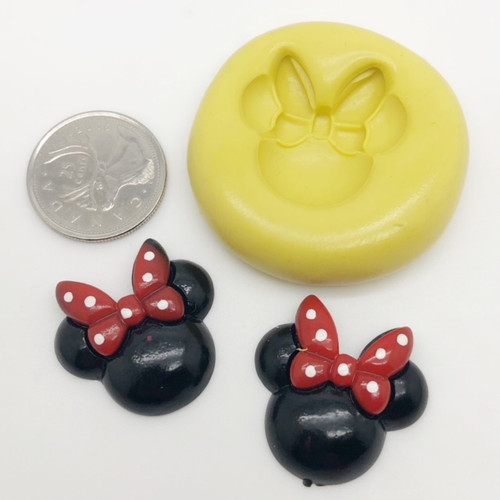 Minnie Mouse Mold with Bow Silicone Mold