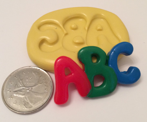 Abc Letters  School Baby Silicone Mold