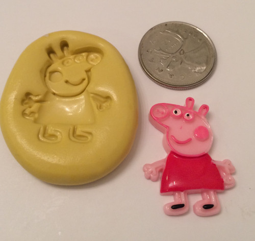 Peppa The Pig Full Body Silicone Mold