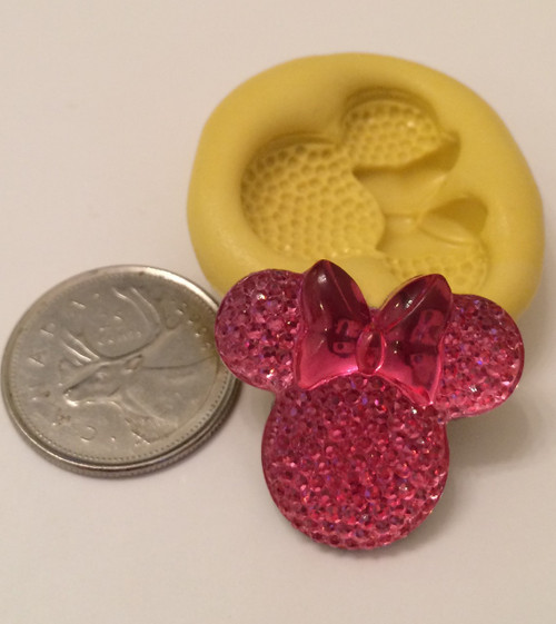 Minnie Mouse Head with Bow Silicone Mold