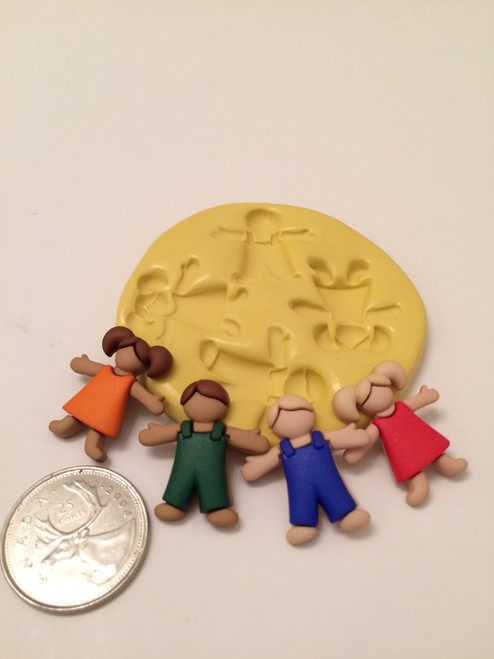 People Kids Boys and Girls Silicone Mold Set