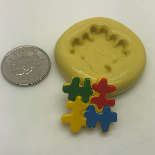 Autism Awareness Puzzle Piece Silcione Mold