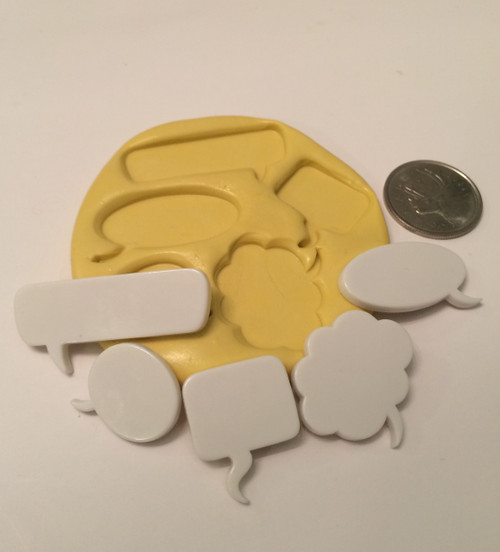 Speech/Thought Bubbles Word Silicone Mold