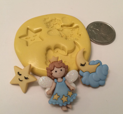 Star Moon Fairy Silicone Mold