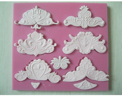 Large Demask Silicone Mold 6 Cavity  -PM144