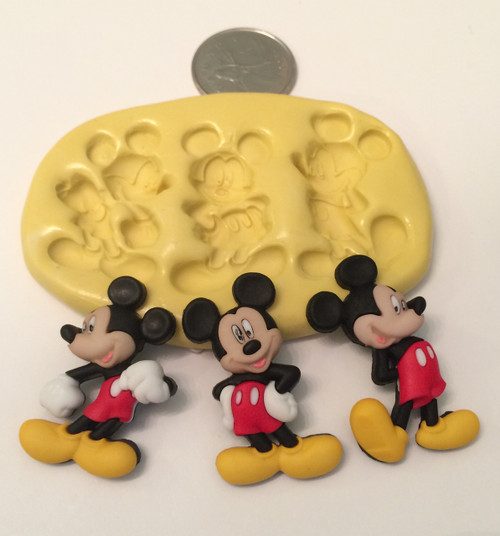 Mickey Mouse 3pc Set  Silicone Mold