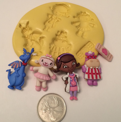 Doc Mc stuffins  Silicone Mold Set