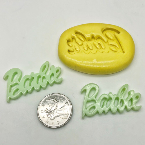 Barbie Word Mold Silicone  mold