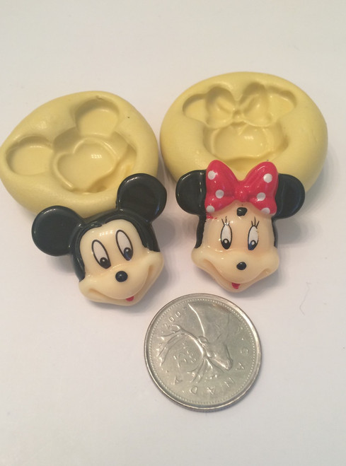 Mickey and Minnie Mouse Face  Silicone Mold Set