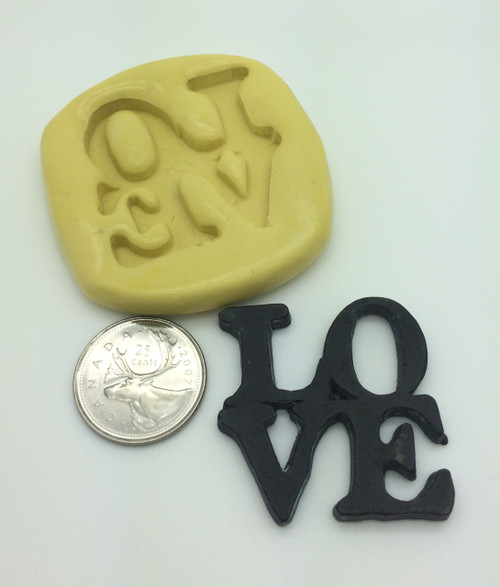 Large LOVE Word Stacked Silicone Mold