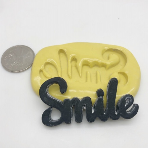 Large Smile Word Silicone Mold