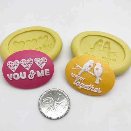 Love Theme Cameo Silicone Mold Set