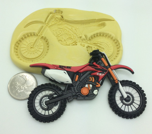 Large Dirt Bike Motorcycle Silicone Mold  #1