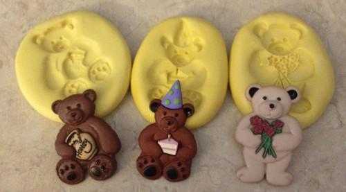 Bear Set Molds Silicone