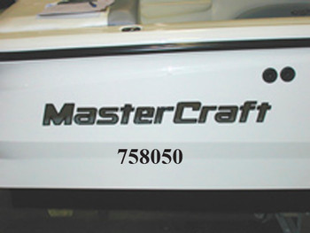 MasterCraft Transom Decal (Chrome Drip Mold) (758050)