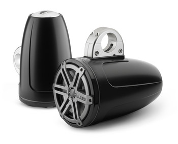 JL Audio 7.7 inch Enclosed Tower Coaxial System, Satin Black, Titanium Sport Grille