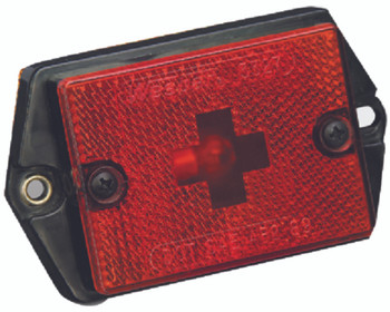 Wesbar Red Clearance/Marker Light with Reflex Reflector