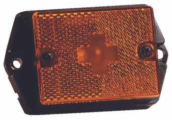 Wesbar Amber Clearance/Marker Light with Reflex Reflector
