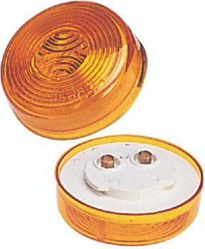 "Wesbar Amber 2"" Round Side Marker Light"