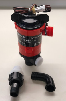Johnson Pump Dual Port Livewell/Washdown Pump, 1000 GPH