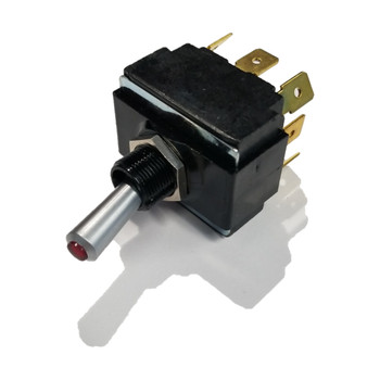 MasterCraft Red Toggle Switch 8-Prong (On/Off/On) (502260)
