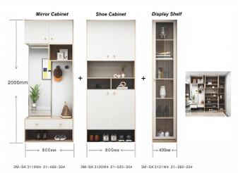 Madison Shoe Cabinet (White)