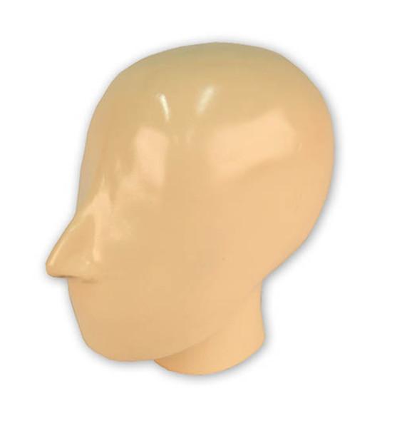 X-ray phantom head with cervical vertebrae, opaque