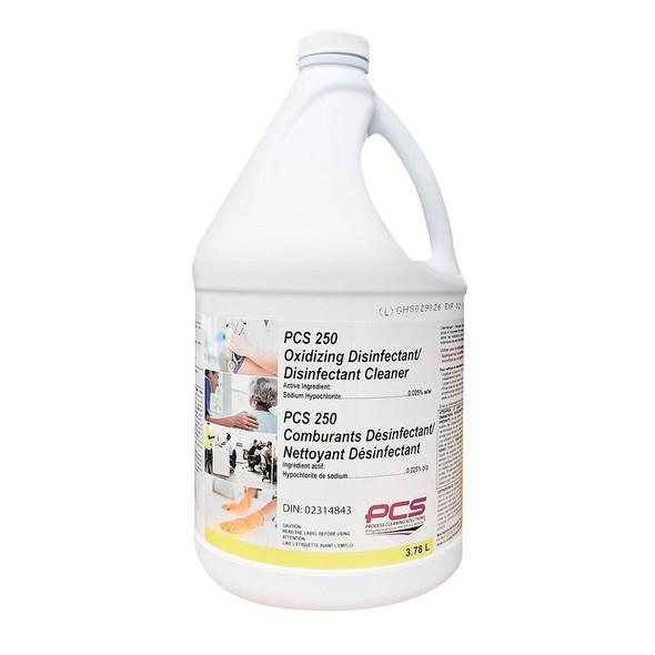 PCS 250 Oxidizing Disinfectant Cleaner, 3.78 L