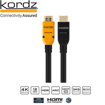 Kordz K36136 PRS series 3 18Gbps certified HDMI active/directional cable