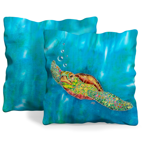 Front and back of pillow cover