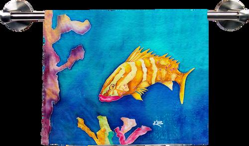 Tropical Reef Fish Hand Towel