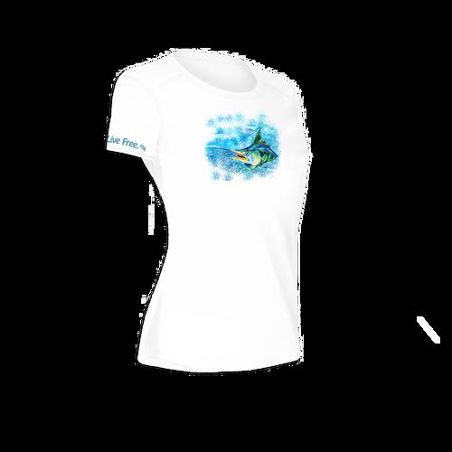 Splash the Marlin Women's Short-Sleeve Solar Performance Shirt