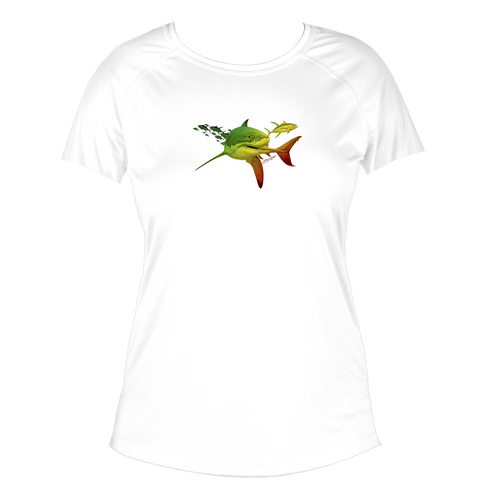 Rasta Great White Women's Short-Sleeve Solar Performance Shirt