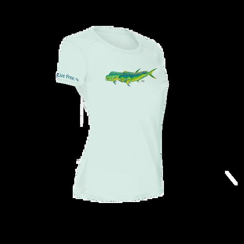 Mahi Mahi Women's Short-Sleeve Solar Performance Shirt