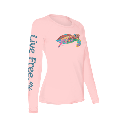 Turtle Time Women's Long-Sleeve Solar Performance Shirt