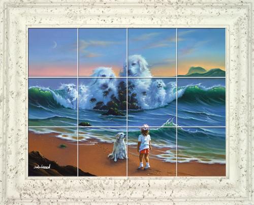 Canine Companion UV Ceramic Tile Mural