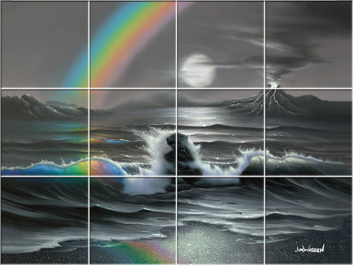Colors in a Rainbow UV Ceramic Tile Mural