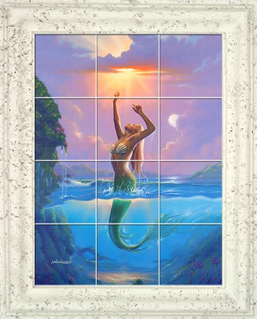 Mermaid (Reach for the Sun) UV Ceramic Tile Mural