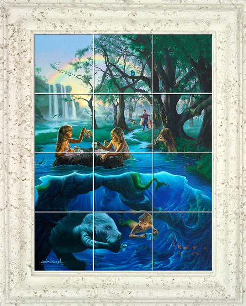 Mermaid Tea Party Tile Mural