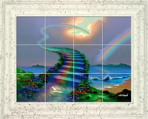 Over the Rainbow UV Ceramic Tile Mural