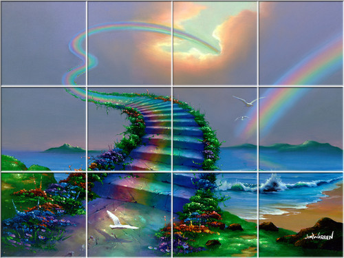 Over the Rainbow UV Ceramic Tile Mural