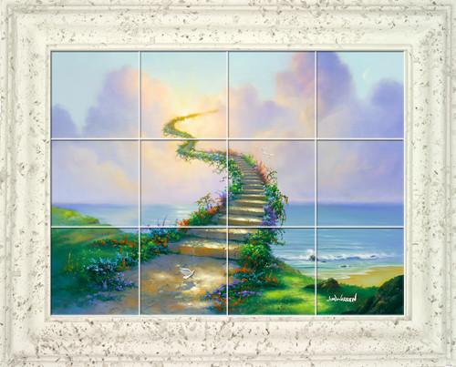 Stairway to Heaven UV Ceramic Tile Mural