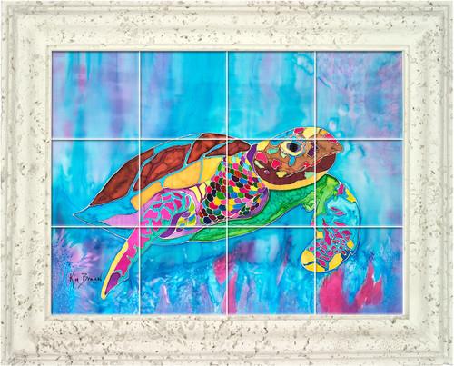 Turtle Time UV Ceramic Tile Mural