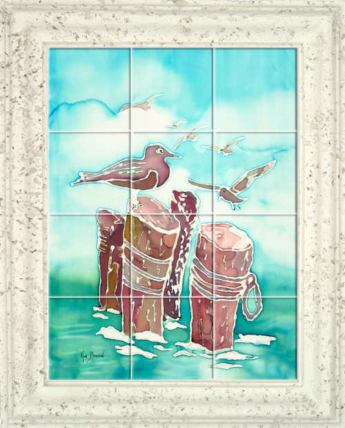 Gulls UV Ceramic Tile Mural
