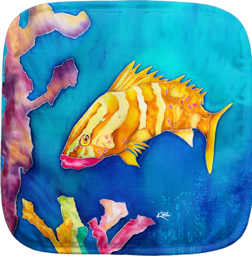 The Tropical Reef Fish Potholder makes for the perfect kitchen item. With a 100% polyester face and 100% cotton back this potholder is extremely heat resistant. Also has a hang tag on back. Dimensions are 8.25 x 8.25.
