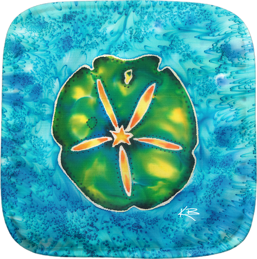 The Sand Dollar Potholder makes for the perfect kitchen item. With a 100% polyester face and 100% cotton back this potholder is extremely heat resistant. Also has a hang tag on back. Dimensions are 8.25 x 8.25.